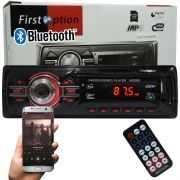 Auto Rádio Som Mp3 Player Automotivo Carro Bluetooth First Option 6620BSC Fm Sd Usb Controle