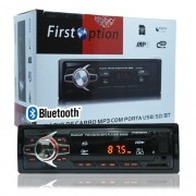 Auto Rádio Som Mp3 Player Automotivo Carro Bluetooth First Option 6680BS Fm Sd Usb Aux