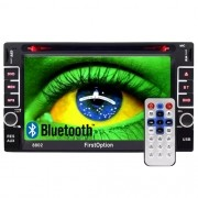 Central Multimídia Dvd 2 Din 6.2 First Option 8802 TV SD Usb Bluetooth Tv Digital Gps