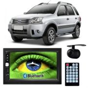 Central Multimídia Mp5 Ecosport 05 à 12 D720BT Moldura 2 Din Bluetooth Câmera Ré
