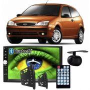 Central Multimídia Mp5 Ford Focus 2001 à 2008 D720BT Moldura Bluetooth Câmera Ré