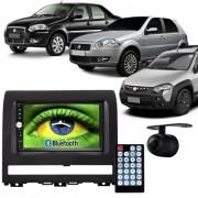 Central Multimídia Mp5 Palio Strada Siena 05 à 11 D720BT Moldura 2 Din Preta Usb Bluetooth Câmera Ré