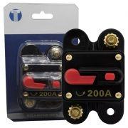 Disjuntor Automotivo 200A Tech One Proteção Som Ressetável Liga Desliga