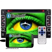 Dvd Automotivo 2 Din 6.2 First Option Multimídia MDI-8802M SD Usb Bluetooth Gps Espelhamento