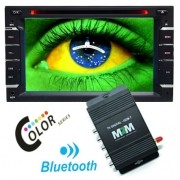 Dvd Automotivo 2 Din 6.2 M2M Car 2D-01 Sd Usb Bluetooth Tv Digital R-TV01 Controle Remoto