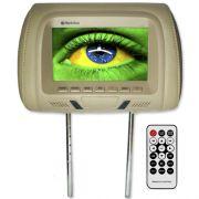 Encosto Cabeça Tela Monitor Usb SD IR Tech One Standard Bege