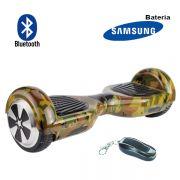 Hoverboard Scooter 2 Rodas Elétrico Bluetooth Audisat TP025 Smart Wheel Camuflado 6,5 Polegadas Bateria Samsung