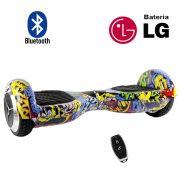 Hoverboard Scooter 2 Rodas Elétrico Bluetooth Inovia PB-01BT Amarelo Colorido Yellow-G 6,5 Polegadas Bateria LG
