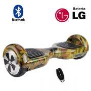 Hoverboard Scooter 2 Rodas Elétrico Bluetooth Inovia PB-01BT Camuflado Army-G 6,5 Polegadas Bateria LG