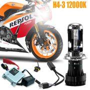 Kit Bi Xenon Moto 12V 35W H4-3 12000K