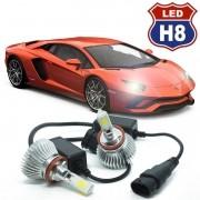 Kit Par Lâmpada Super Led Automotiva Farol Carro 3D H8 8000 Lumens 12V 24V 6000K