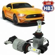 Kit Par Lâmpada Super Led Automotiva Carro HB3 9005 10000 Lumens 12/24V 6000K