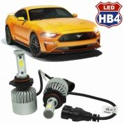 Kit Par Lâmpada Super Led Automotiva Carro HB4 9006 10000 Lumens 12/24V 6000K