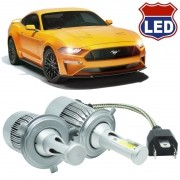 Kit Par Lâmpada Super Led Automotiva Farol Carro 10000 Lumens 12/24V 6000K