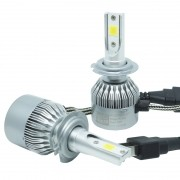 Kit Par Lâmpada Super Led Automotiva Farol Carro H7 10000Lm 12/24V Guzz 6000K