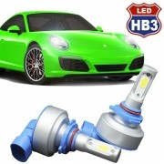 Kit Par Lâmpada Super Led Automotiva Farol Carro HB3 9005 9000Lm 12/24V 6000K