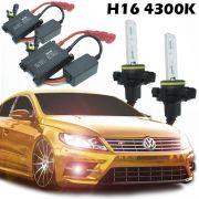 Kit Xenon Carro 12V 35W H16 4300K