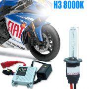 Kit Xenon Moto 12V 35W H3 8000K