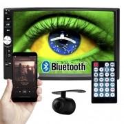 Multimídia Mp5 Vídeo Player Automotivo 2 Din Tela 7.0 Exbom Som Fm Usb Sd Aux Bluetooth Câmera de Ré