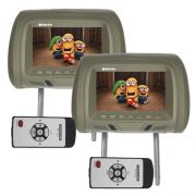 Par Encosto Cabeça Tela Monitor Escravo Tech One Standard Cinza