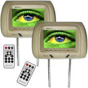 Par Encosto Cabeça Tela Monitor Usb SD IR Tech One Standard Bege