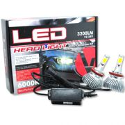 Par Lâmpada Super Led 6400 Lumens 12V 24V 32W Velox Parts H11 6000K