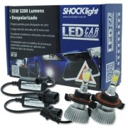 Par Lâmpada Super Led 6400 Lumens 12V 24V 35W Shocklight H13 (Bi) 6000K