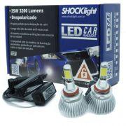 Par Lâmpada Super Led 6400 Lumens 12V 24V 35W Shocklight HB4 9006 6000K