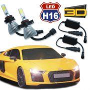 Par Lâmpada Super Led 7400 Lumens 12V 24V 3D H16 6000K