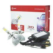 Par Lâmpada Super Led 7400 Lumens 12V 24V 40W Cinoy 3D H4 (Bi) 6000K