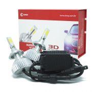 Par Lâmpada Super Led 7400 Lumens 12V 24V 40W Cinoy 3D H7 6000K