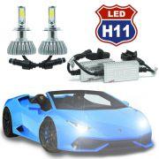 Par Lâmpada Super Led 8000 Lumens 12V 24V 3D H11 6000K