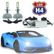 Par Lâmpada Super Led 8000 Lumens 12V 24V 3D H4 (Bi) 6000K