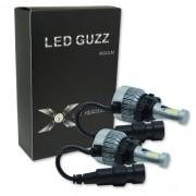 Par Lâmpada Super Led 9000 Lumens 12V 24V 40W Guzz H16 6000K