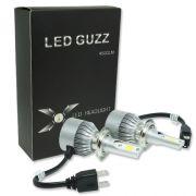 Par Lâmpada Super Led 9000 Lumens 12V 24V 40W Guzz H7 6000K