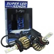 Par Lâmpada Super Led Automotiva Kit 9000 Lumens 12V 24V 48W D-Max Farol H16 6000K