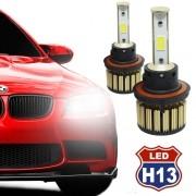 Par Lâmpada Super Led Automotiva Kit 9000 Lumens 12V 24V Farol H13 (Bi - baixa e alta) 6000K