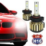 Par Lâmpada Super Led Automotiva Kit 9000 Lumens 12V 24V Farol H16 6000K