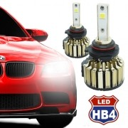 Par Lâmpada Super Led Automotiva Kit 9000 Lumens 12V 24V Farol HB4 9006 6000K