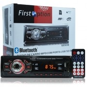 Rádio Mp3 Player Automotivo Bluetooth  First Option 6650B Fm Sd Usb Controle