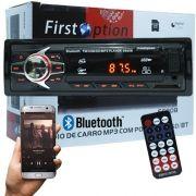 Auto Rádio Som Mp3 Player Automotivo Carro Bluetooth First Option 6690BSC Fm Sd Usb Controle