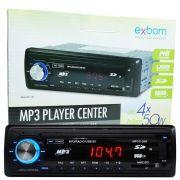 Rádio Mp3 Player Automotivo Toca Som Fm Usb Sd Aux Controle Exbom MPCC-20B