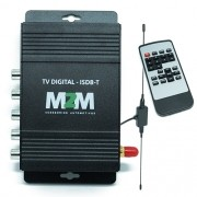 Receptor Tv Digital Automotivo M2M Car R-TV01 ISDB-T Antena 3 Saídas com Controle