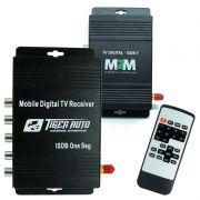 Receptor Tv Digital Automotivo para Dvd ISDB-T Antena 3 Saídas com Controle Universal
