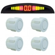 Sensor de Ré Estacionamento 4 Pontos Display Led First Option Kit 18mm Branco