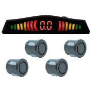 Sensor de Ré Estacionamento Universal 4 Pontos Display Led Tech One 18mmT1SE4PGF Grafite
