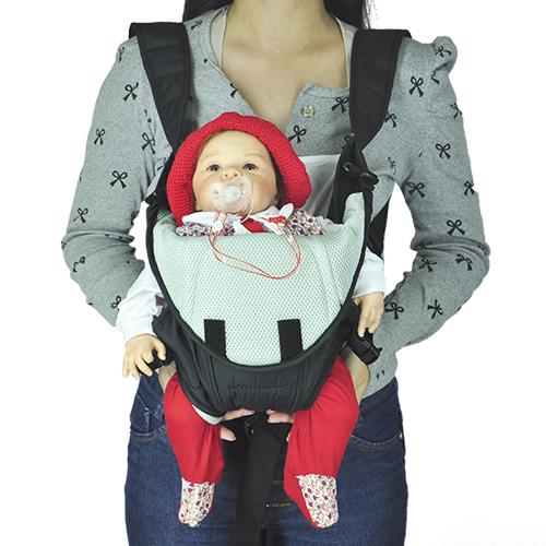 Canguru Carrega Bebê Ergonômico Meu Bebê Liv 3 Em 1 Preto  - BEST SALE SHOP
