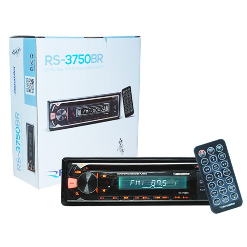 Cd Player Mp3 Automotivo Bluetooth Toca Som Roadstar RS-3750BR Fm Usb Sd Aux Controle  - BEST SALE SHOP
