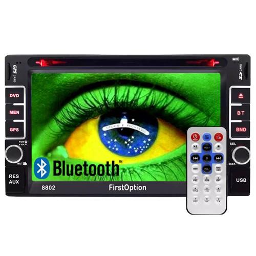 Central Multimídia 2 Din Universal Dvd 6.2 First Option MDI-8802 TV SD Usb Bluetooth Tv Digital Gps  - BEST SALE SHOP