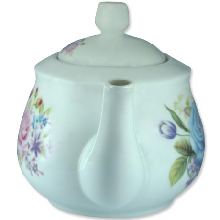 Chaleira de Porcelana Brilho de Diamante Bcyc-1609 Branco 650Ml  - BEST SALE SHOP